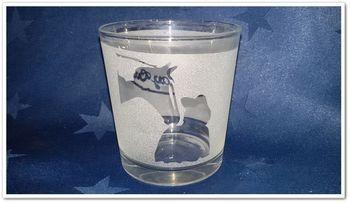 """Teelichtglas """"Riders Way Out!"""