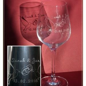Glas zur Hochzeit
