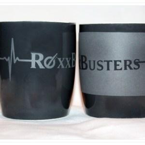 """Tasse """"RoxxBusters"""" mit Silberglanz"""